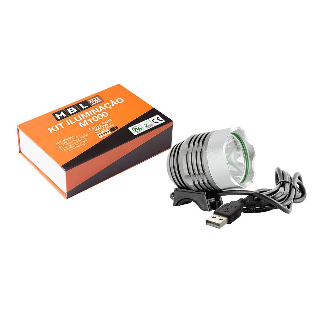 Kit iluminação m1000 recarregável