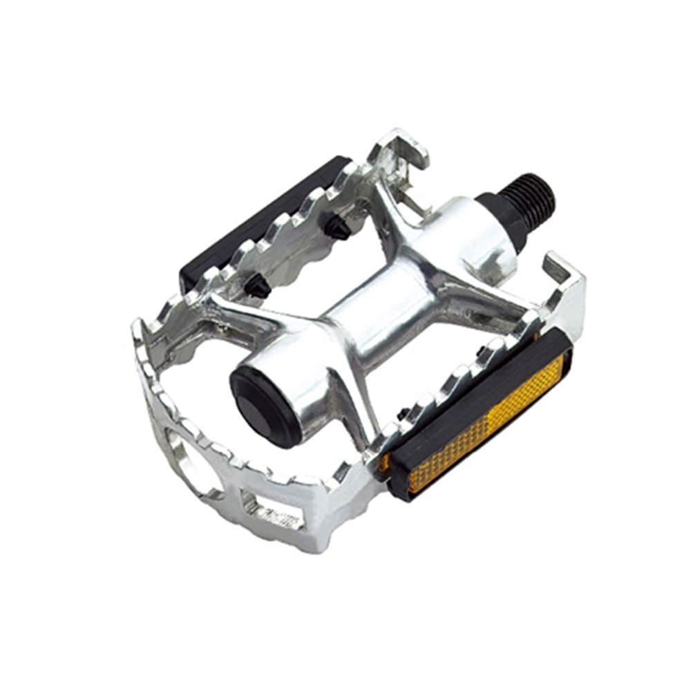 Pedal 1/2 aluminio mtb polido c/esfera