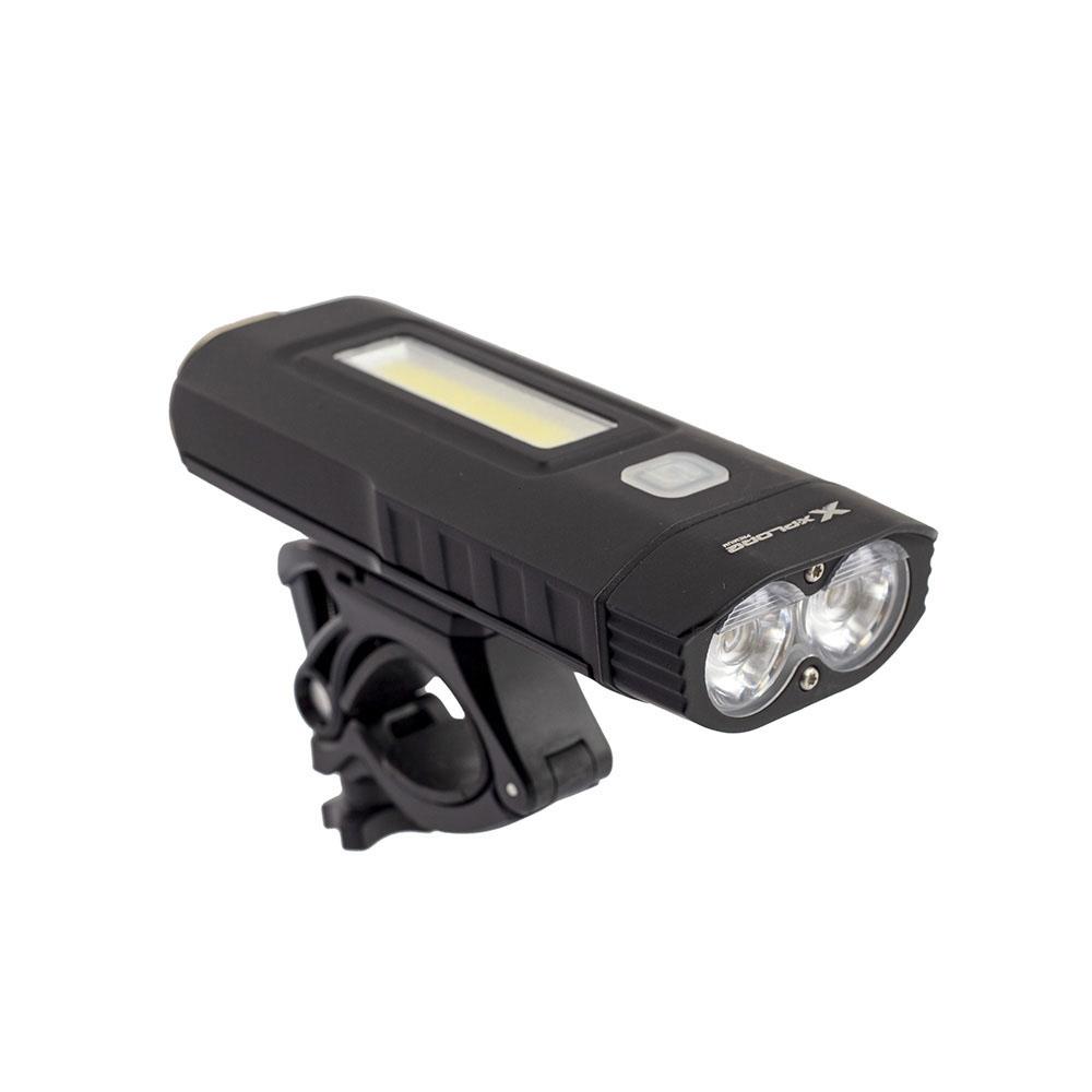 Farol 2x led cree xm-l2 u2 1000 lumens com bateria recarregavel usb 2*2200mah