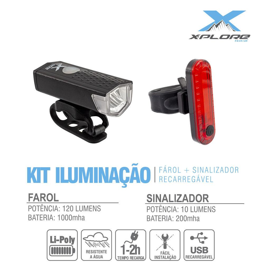 Farol (kit) 120l+ sinalizad ver10l