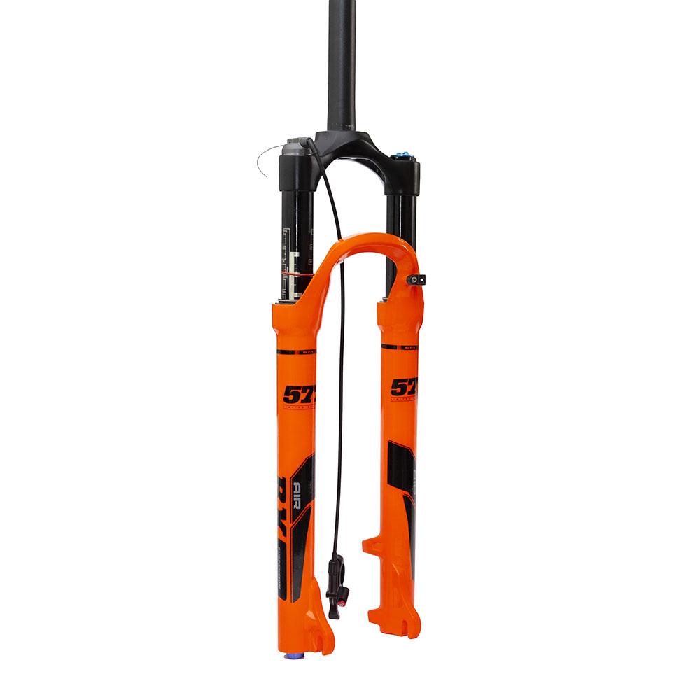 Suspensão 29 ar/óleo de canelas de magnesio com trava remota cor orange special edition com retorno