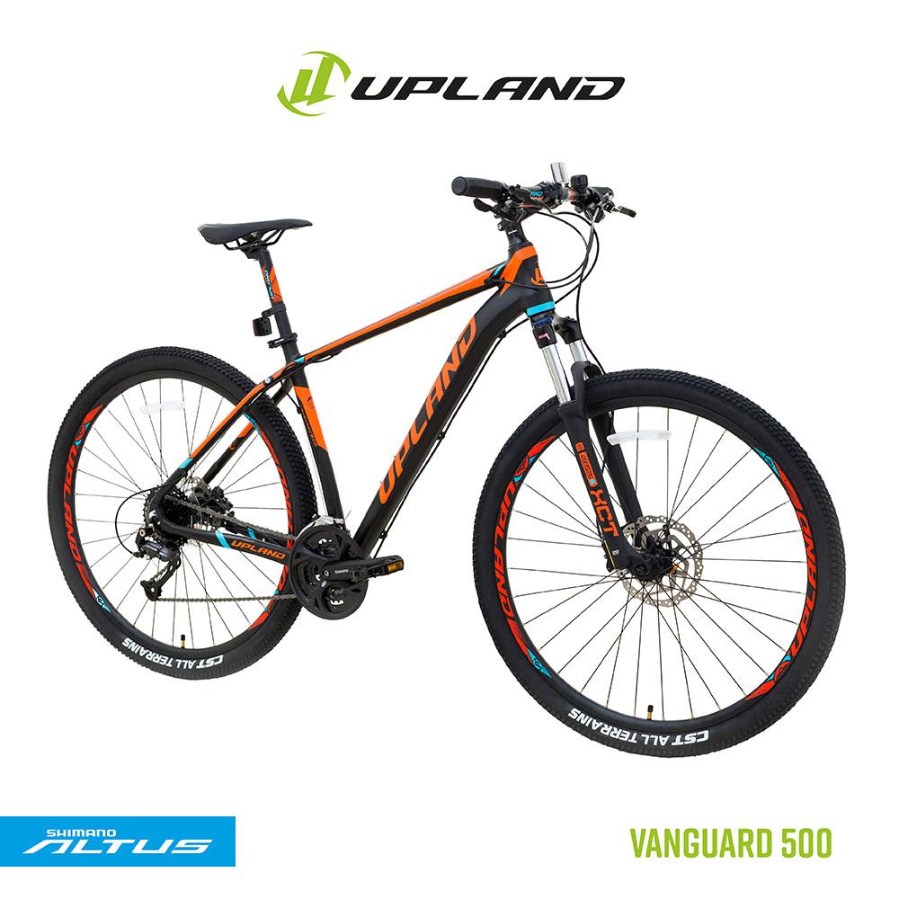 Bicicleta upland vanguard 500 29 alumínio tamanho 19 preto/laranja 27v freio hidraulico altus