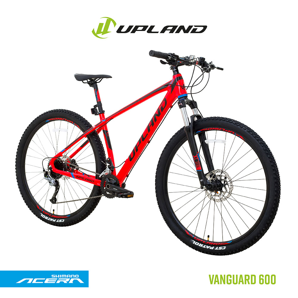 Bicicleta upland vanguard 600 29 alumínio tamanho 19 vermelho/preto 18v freio hidraulico acera+alivio