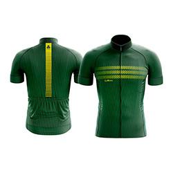 Camisa-de-ciclismo-lemans-modelo-fine-verde-com-ziper-inteiro-e-manga-curta