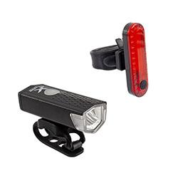 Kit-farol-de-led-cree-xpe-120-lumens--sinalizador-traseiro-led-vermelho-10-lumens---recarregavel-usb