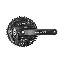 Roda-tripla-nx--coroa-engrenagem--24x34x42-dentes-com-bra-o-de-aluminio-170mm-preto-sem-protetor-de-corrente